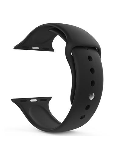 Microsonic Apple Watch SE 40mm Silikon Kordon Siyah
